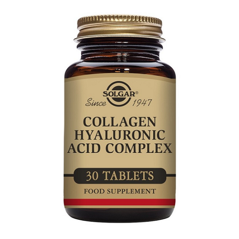 SOLGAR COLLAGEN HYALURONIC ACID COMPLEX 120MG 30TABS