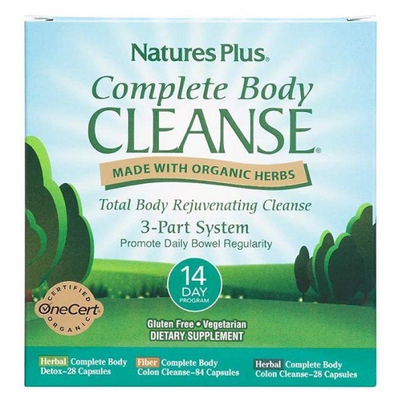 NATURES PLUS COMPLETE BODY CLEANSE 14 DAY PROGRAMM 2X28VEG. CAPS & 1X81VEG. CAPS