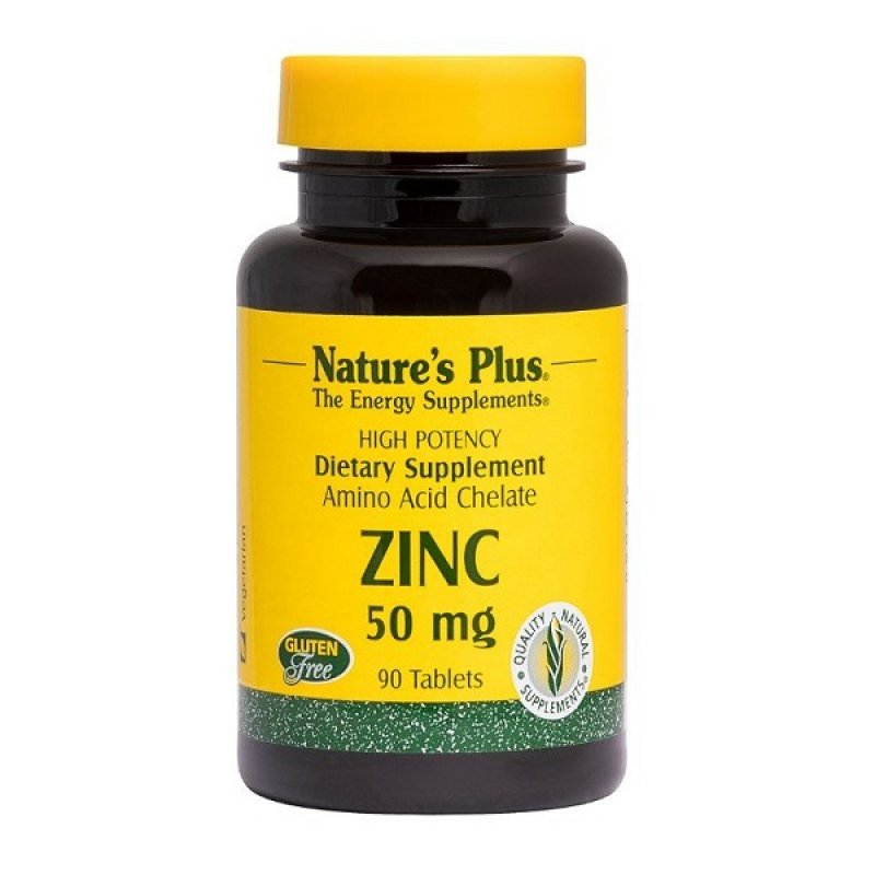 NATURES PLUS ZINC 50MG 90TABS