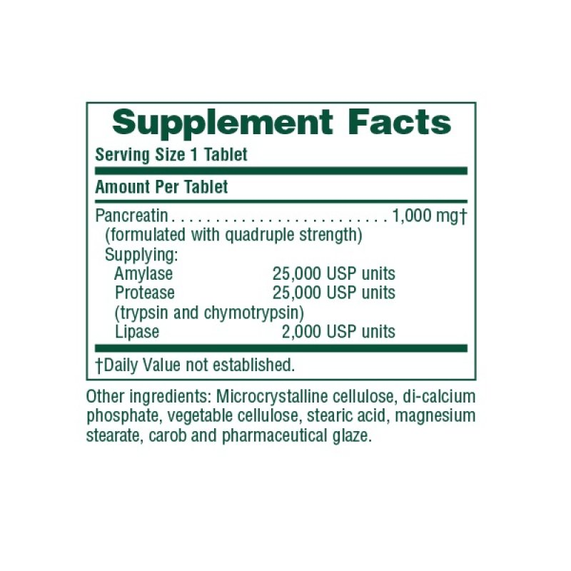 NATURES PLUS PANCREATIN 1000 MG 60 TABS