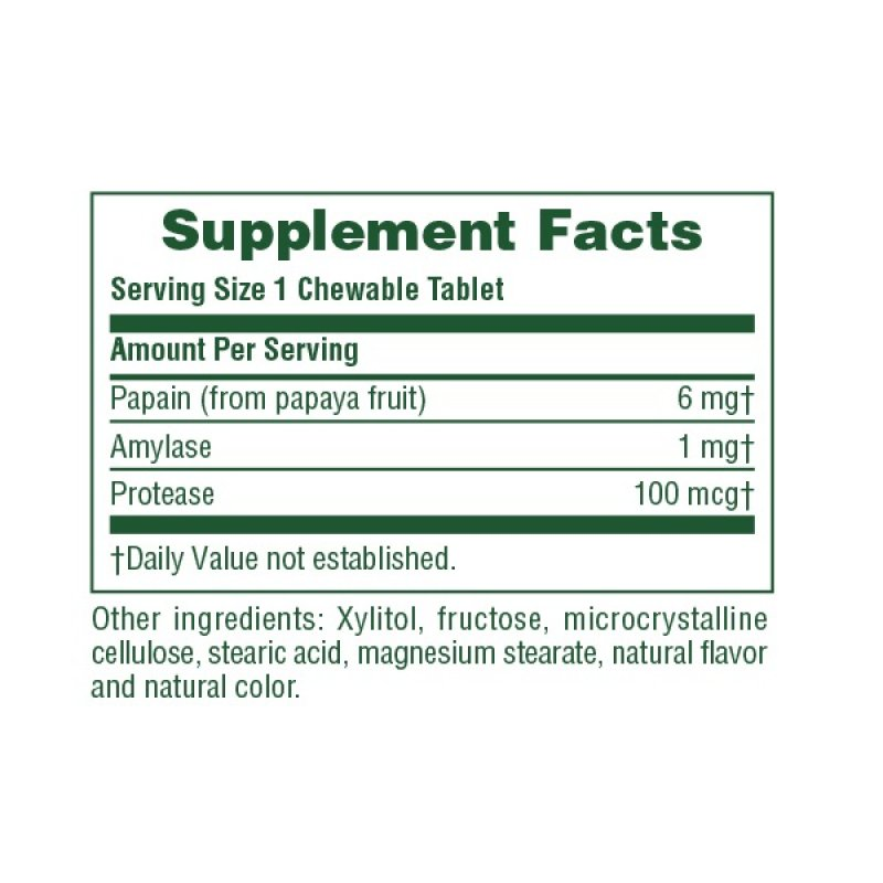 NATURES PLUS PAPAYA ENZYME 180 CHEWABLE TABS