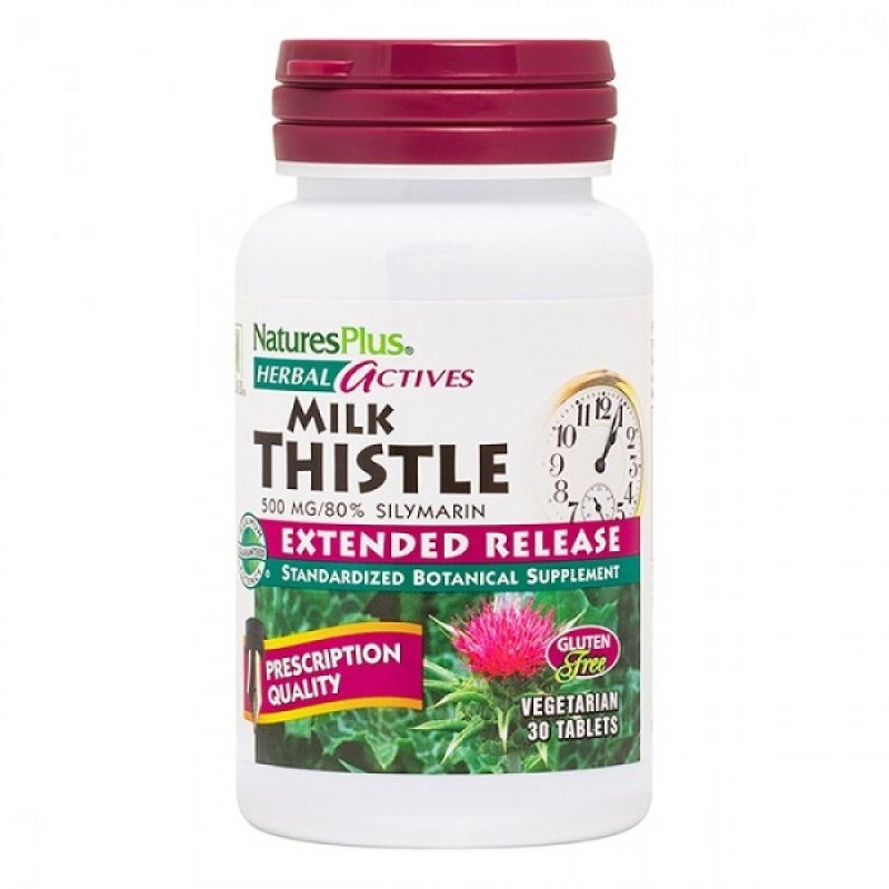 NATURES PLUS EXTENDED RELEASE MILK THISTLE 500 MG 30 TABS