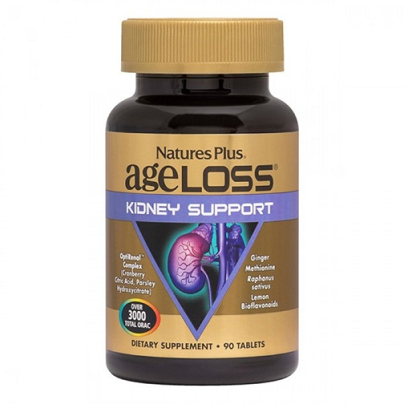 NATURES PLUS AGELOSS KIDNEY SUPPORT 90 TABS