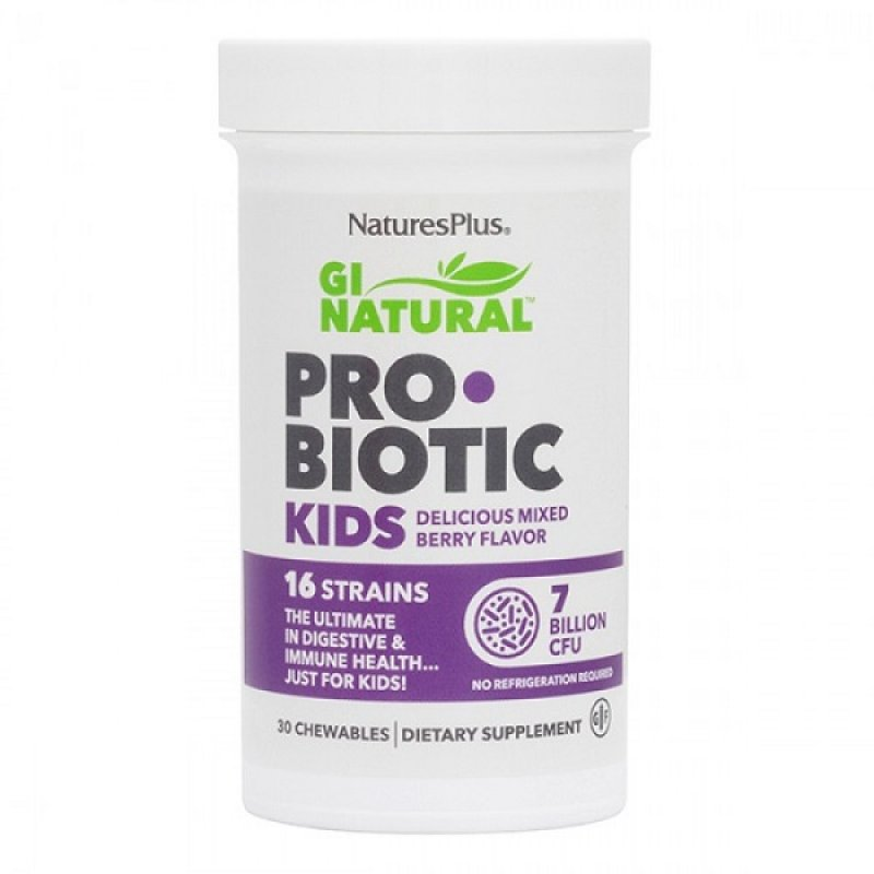 NATURES PLUS GI NATURAL PROBIOTIC KIDS 30 CHEWABLES TABS