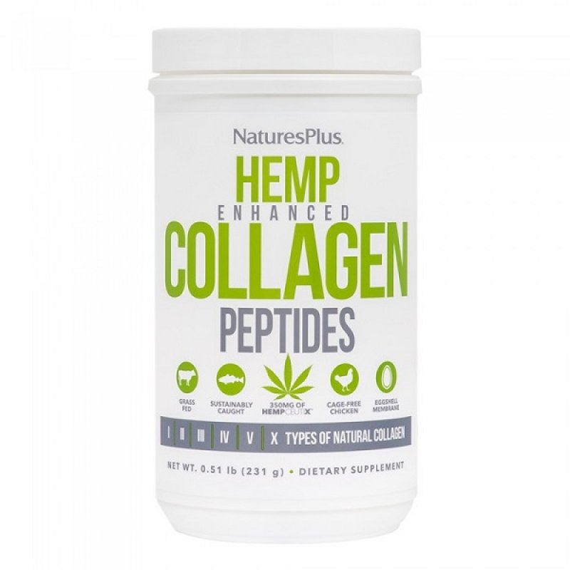 NATURES PLUS HEMP ENHANCED COLLAGEN 0.51 LB (231 G)