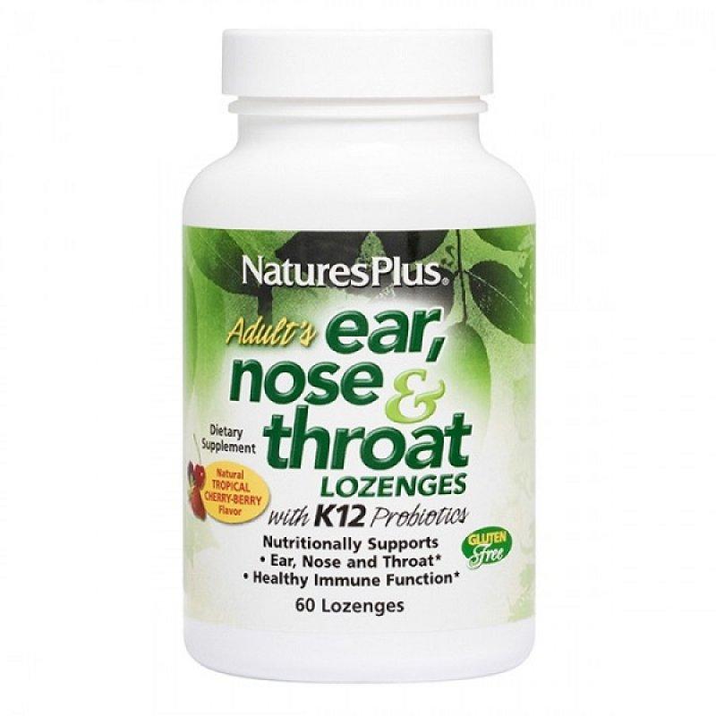 NATURES PLUS EAR NOSE & THROAT 60 LOZENGES