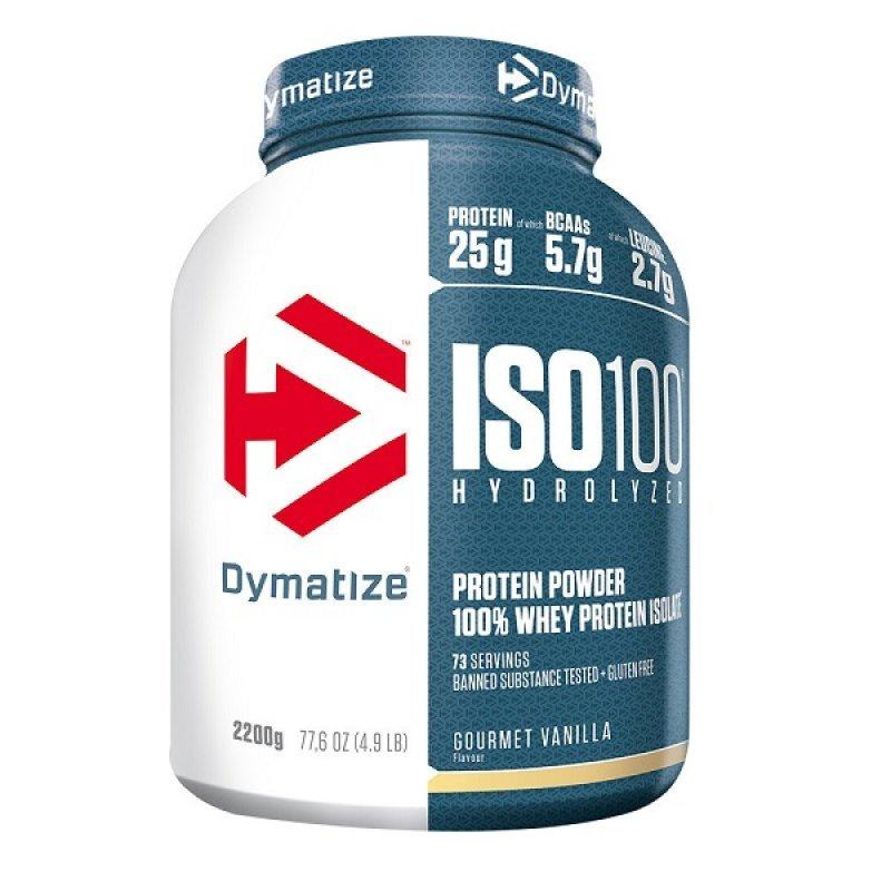DYMATIZE ISO 100 HYDROLYZED GOURMET VANILLA 2,2KG