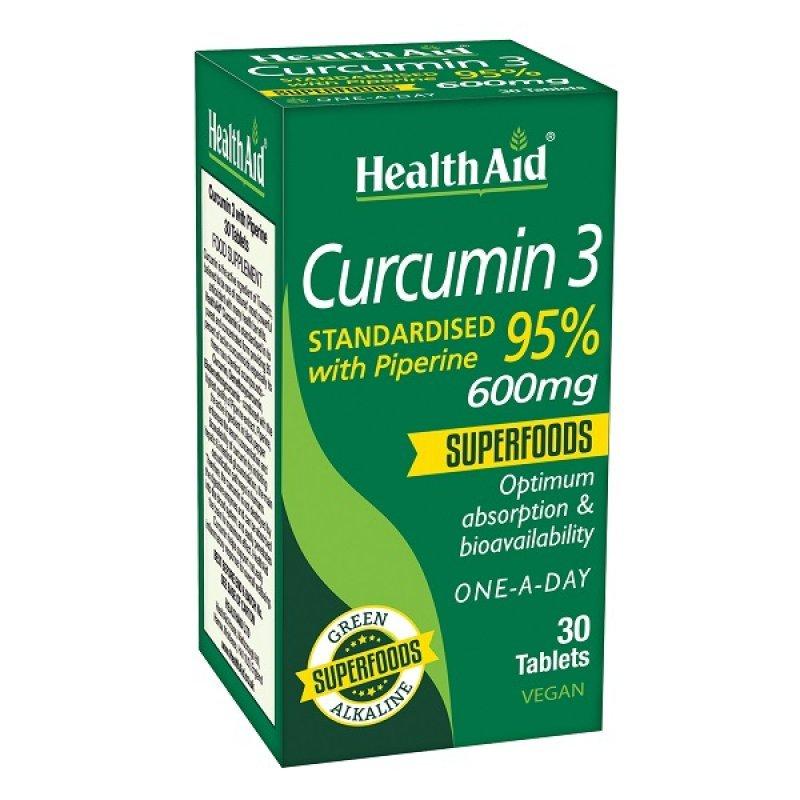 HEALTH AID CURCUMIN 3 30TABS