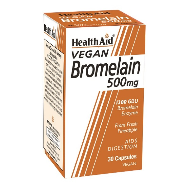 HEALTH AID BROMELAIN 500MG 30CAPS