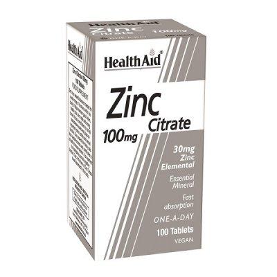 HEALTH AID ZINC CITRATE 100MG 100TABS