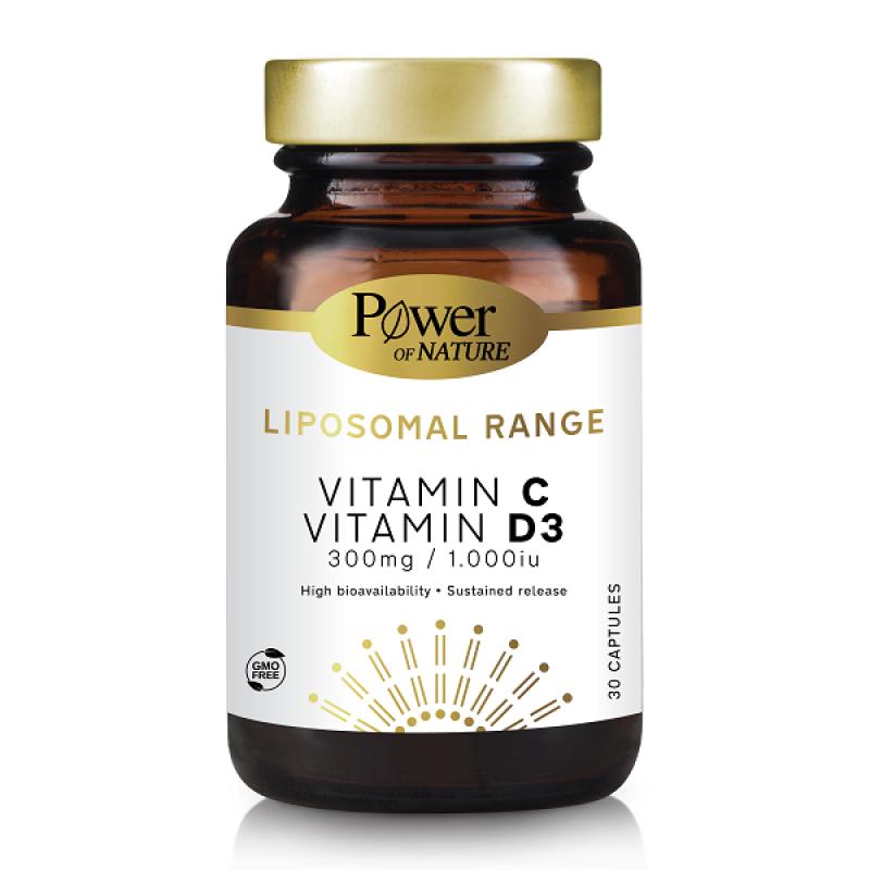 POWER HEALTH LIPOSOMAL VITAMIN C 300MG VITAMIN D3 1.000IU 30CAPS