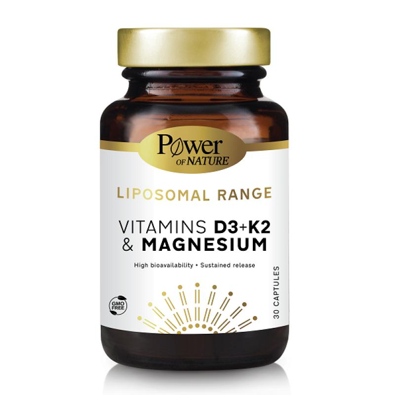 POWER HEALTH LIPOSOMAL VITAMINS D3, K2 & MAGNESIUM 30CAPS