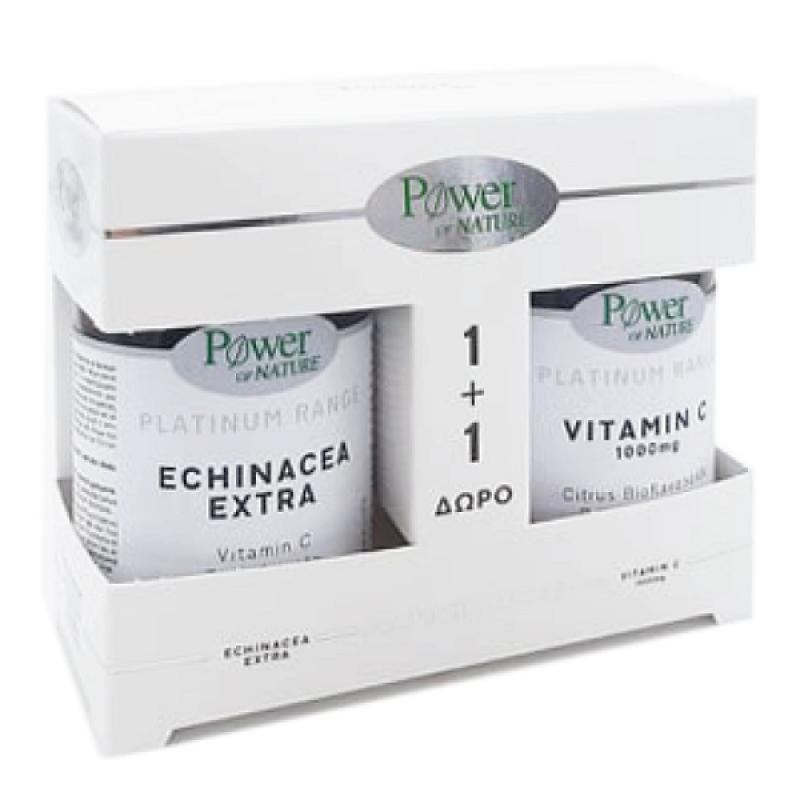 POWER HEALTH PLATINUM ECHINACEA EXTRA 30CAPS & ΔΩΡΟ VITAMIN C 1000MG 20TABS
