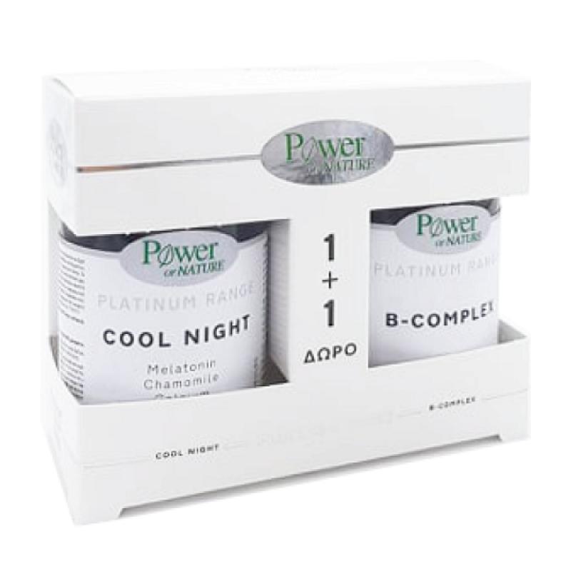 POWER HEALTH PLATINUM COOL NIGHT 30CAPS & ΔΩΡΟ B-COMPLEX 20TABS