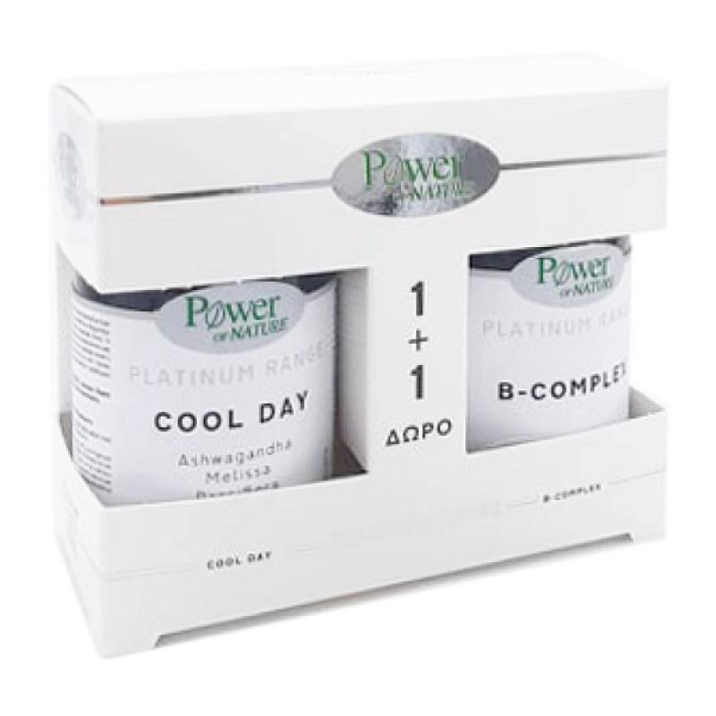 POWER HEALTH PLATINUM COOL DAY 30TABS & ΔΩΡΟ B-COMPLEX 20TABS