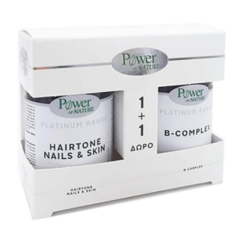 POWER HEALTH PLATINUM HAIRTONE NAILS & SKIN 30CAPS & ΔΩΡΟ B-COMPLEX 20TABS