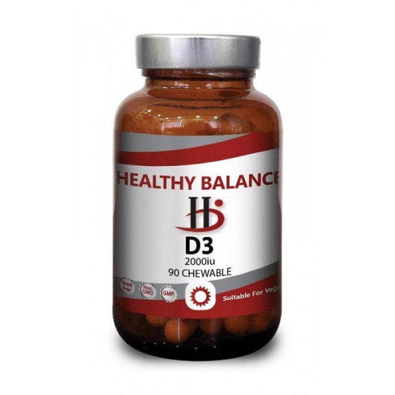 HEALTHY BALANCE VITAMIN D3 2000IU 90ΤABS