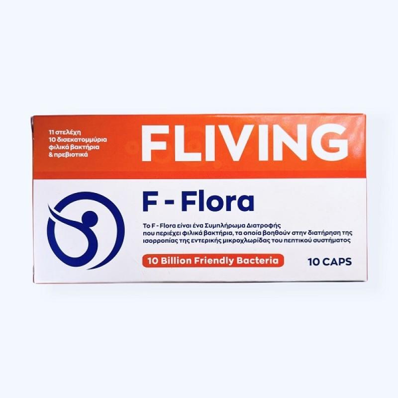 FLIVING F-FLORA 10 BILLION FRIENDLY BACTERIA 10CAPS