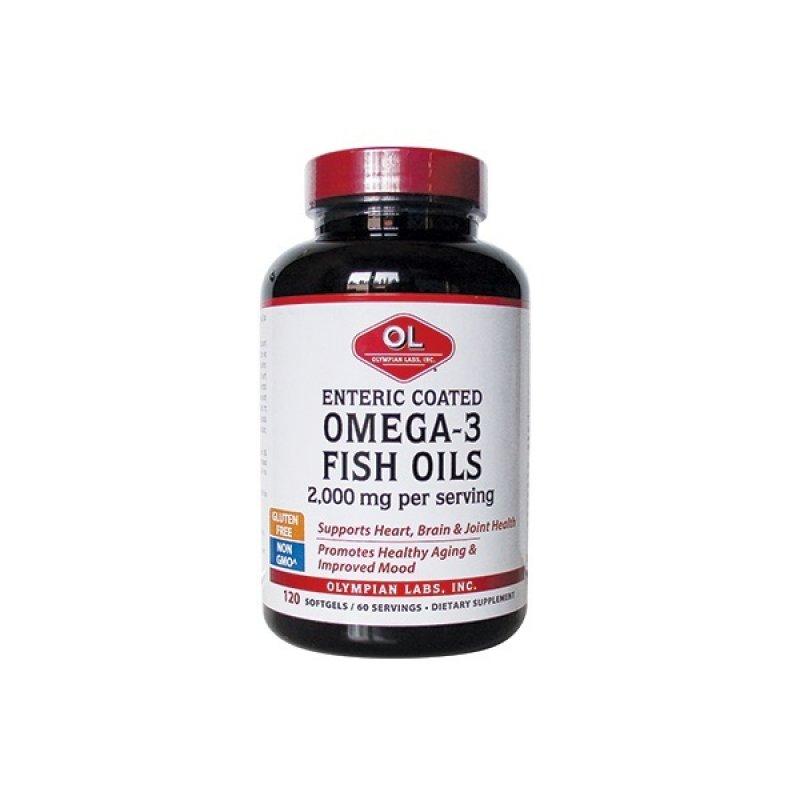 OLYMPIAN ENTERIC COATED OMEGA 3 FISH OILS 2.000mg 120SOFTGELS