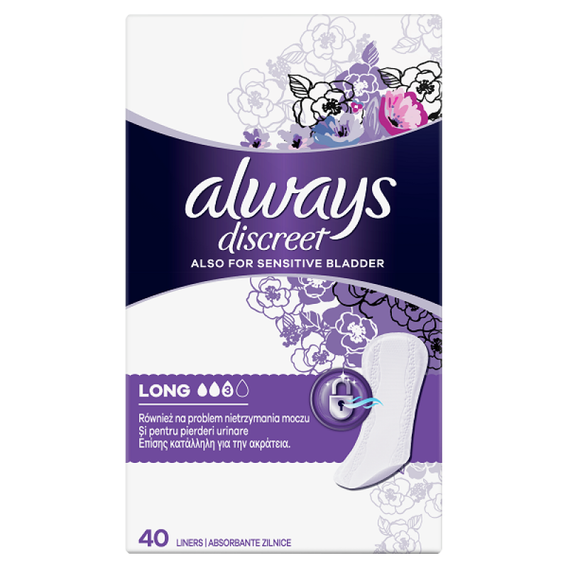 ALWAYS DISCREET LINERS LARGE 40ΤΜΧ