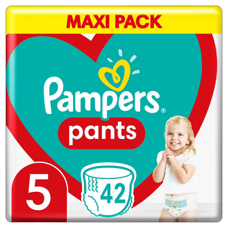 PAMPERS PANTS MAXI PACK ΝΟ5 (12-15KG) 42ΤΕΜ