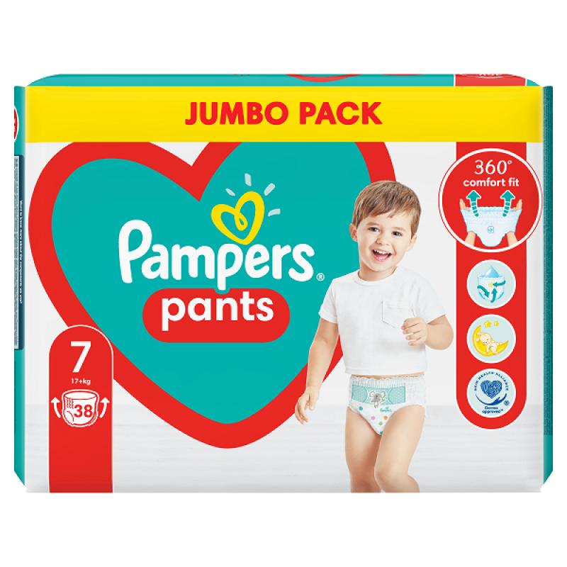 PAMPERS PANTS JUMBO PACK ΝΟ7 (17+KG) 38ΤΜΧ