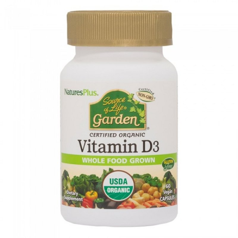 NATURES PLUS SOURCE OF LIFE GARDEN ORGANIC VITAMIN D3 5000IU 60CAPS