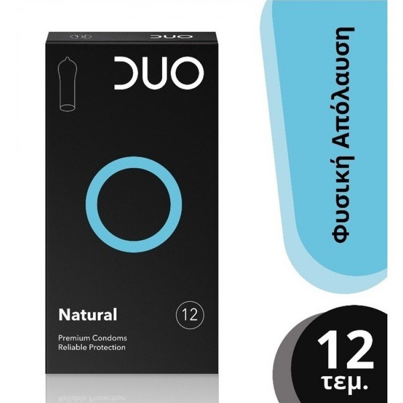 DUO Natural Προφυλακτικά Κανονικά, 12 τεμάχια