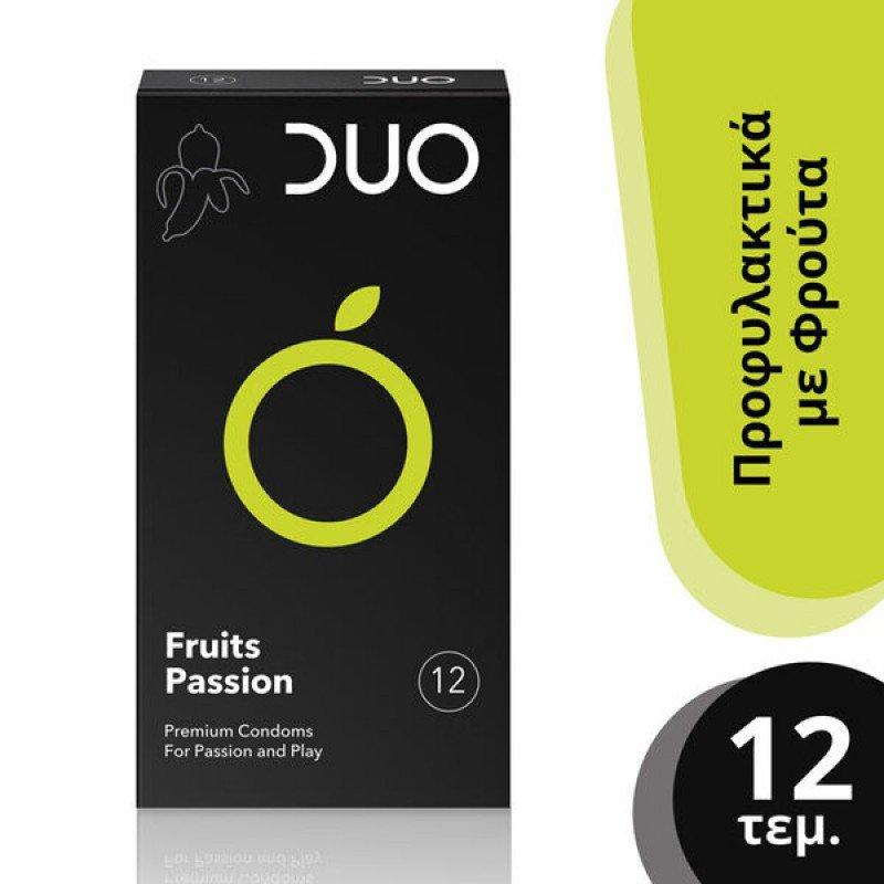 DUO Fruits Passion Προφυλακτικά με Γεύσεις, 12 τμχ.