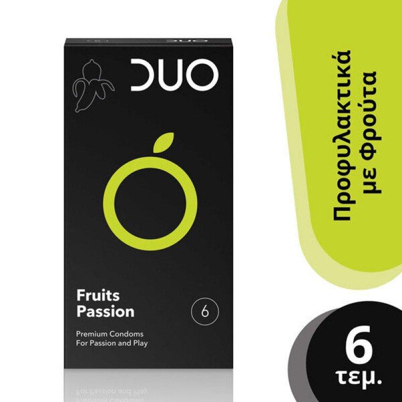 DUO Fruits Passion Προφυλακτικά με Γεύσεις, 6 τμχ.