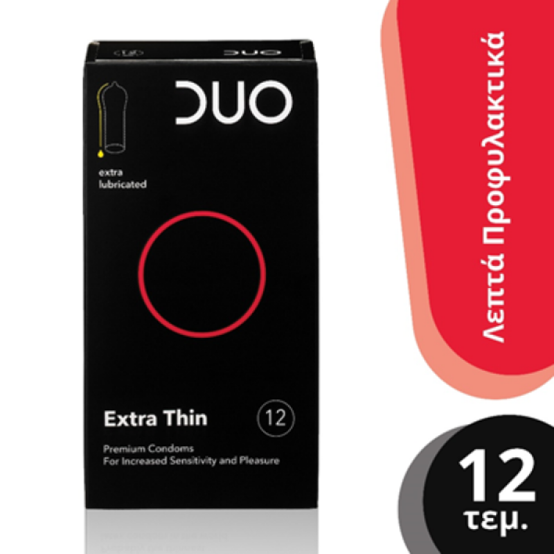 DUO Extra thin (Πολύ λεπτό)  12τμχ.