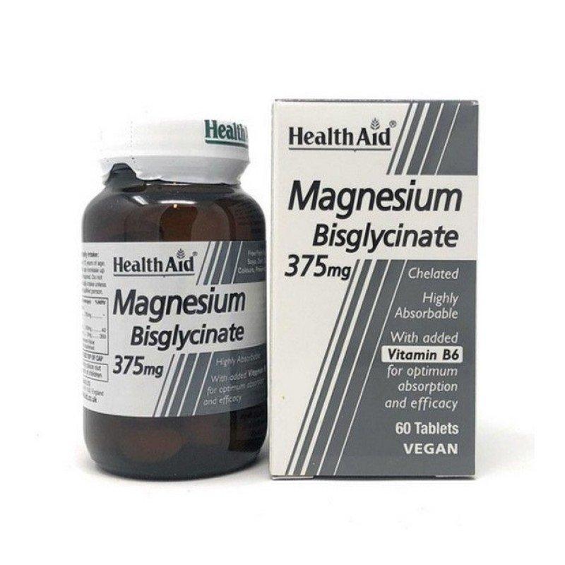 HEALTH AID MAGNESIUM BISGLYCINATE 375mg 60tabs
