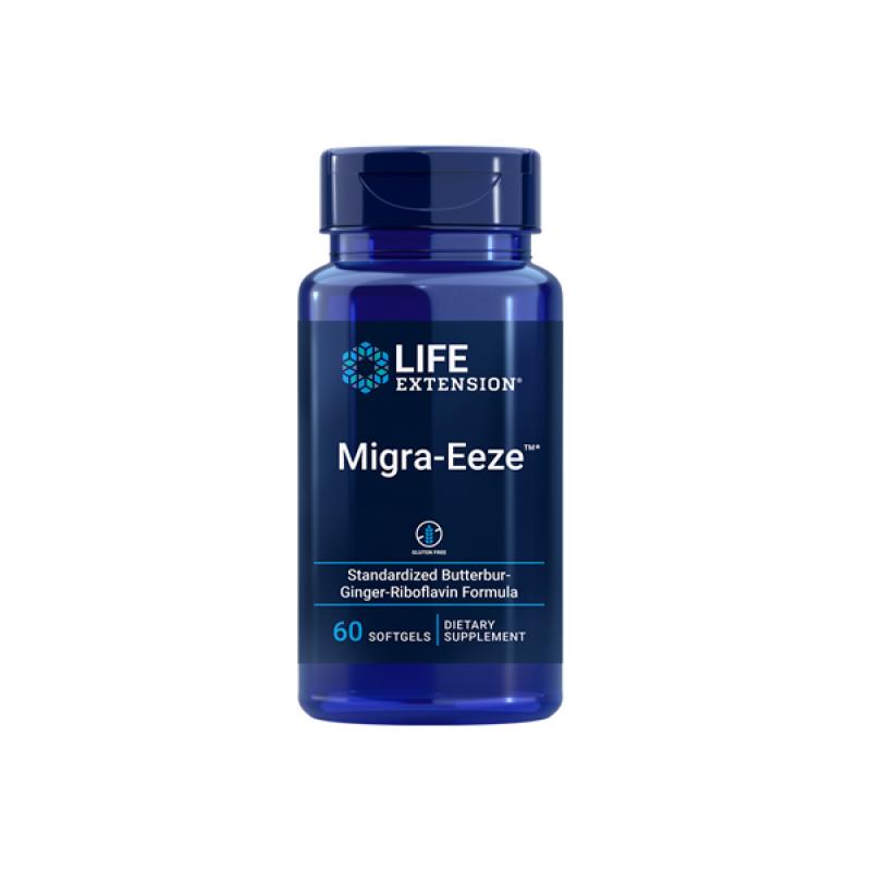 LIFE EXTENSION MIGR-EEZE BUTTERBUR-GINGER-RIBOF 60SOFTGELS