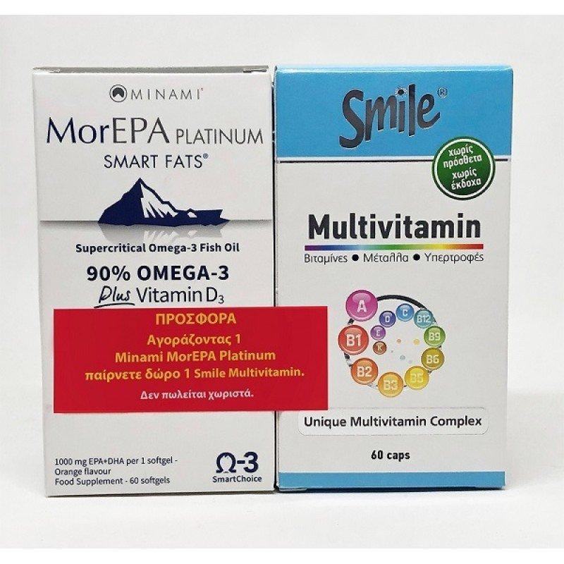 MINAMI MOR-EPA PLATINUM 60CAPS   SMILE MULTIVITAMIN 60 CAPS