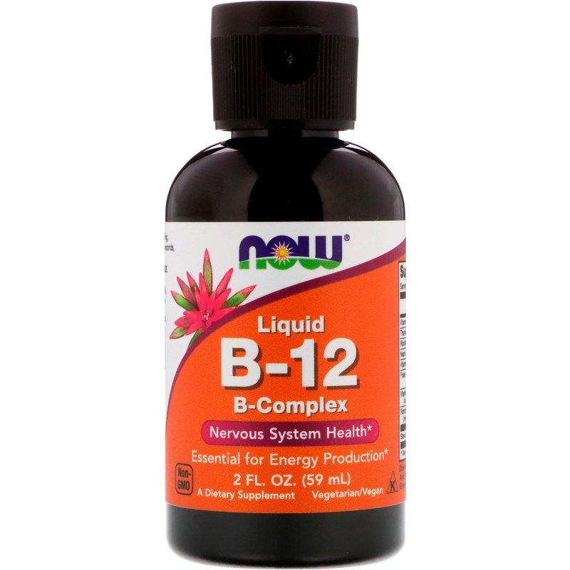 NOW LIQUID B-12 Complex, 59 ML (Vegetarian)
