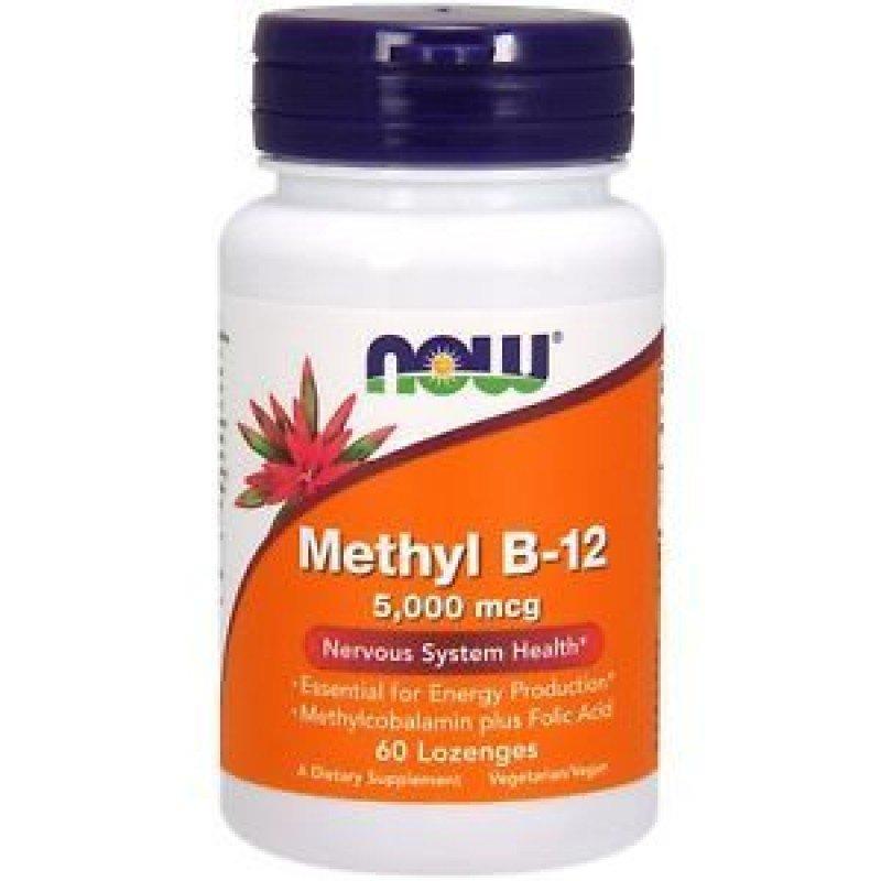 NOW METHYL B-12 5000 MCG METHYLCOBALAMIN 60 LOZENGES