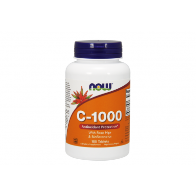 NOW C-1000 MG WITH ROSE HIPS & BIOFLAVONOIDS 100TABS