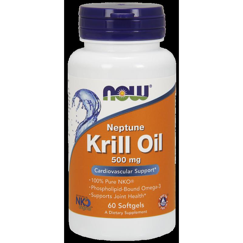 NOW KRILL OIL NEPTUNE 500MG  60 SOFTGELS