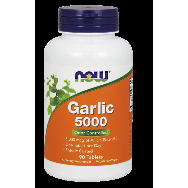 NOW GARLIC 5000 MCG, 90 TABS