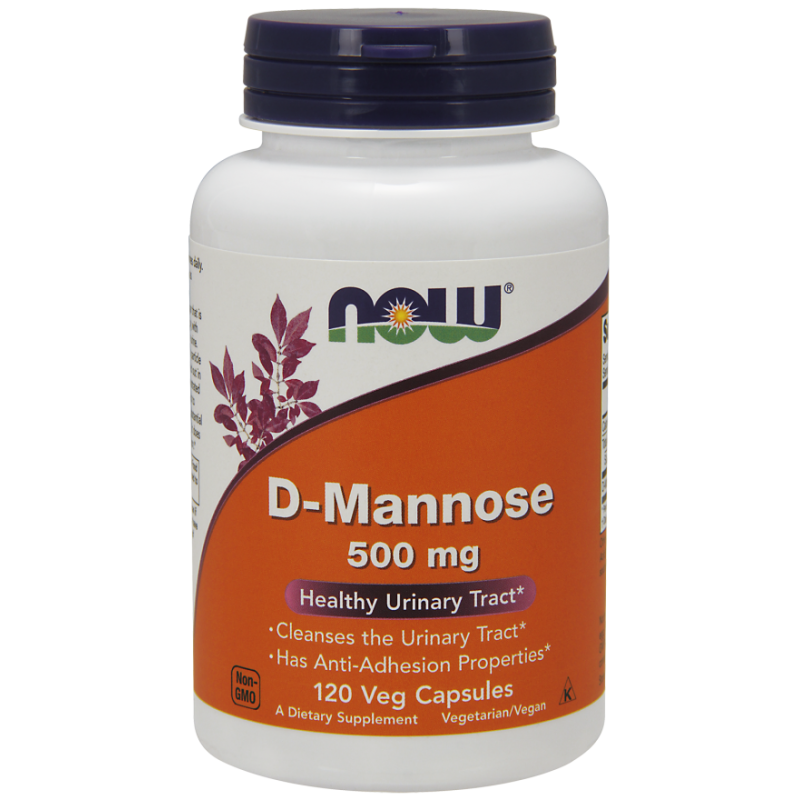 NOW D-MANNOSE 500 MG - 120 CAPS