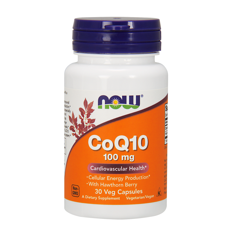 NOW COQ10 100 MG WITH HAWTHORN BERRY VEGETARIAN - 30 VCAPS