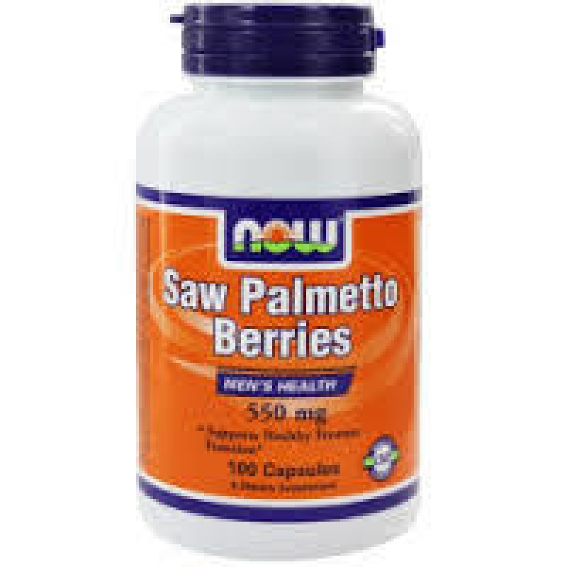 NOW SAW PALMETTO BERRIES 550 MG, 100 VEG. CAPS