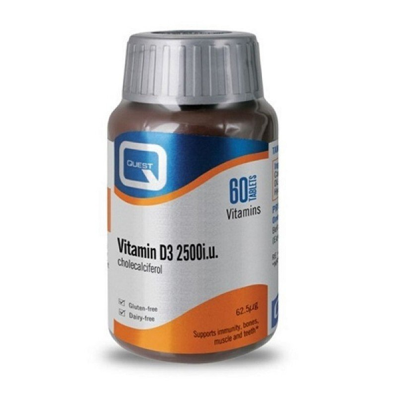 Quest Vitamin D3 2500 IU cholecalciferol 60Tabs