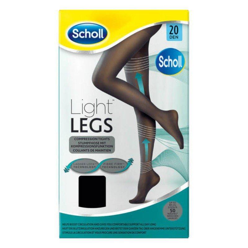 SCHOLL LIGHT LEGS 20 DEN ΧΡΩΜΑ BLACK XLARGE