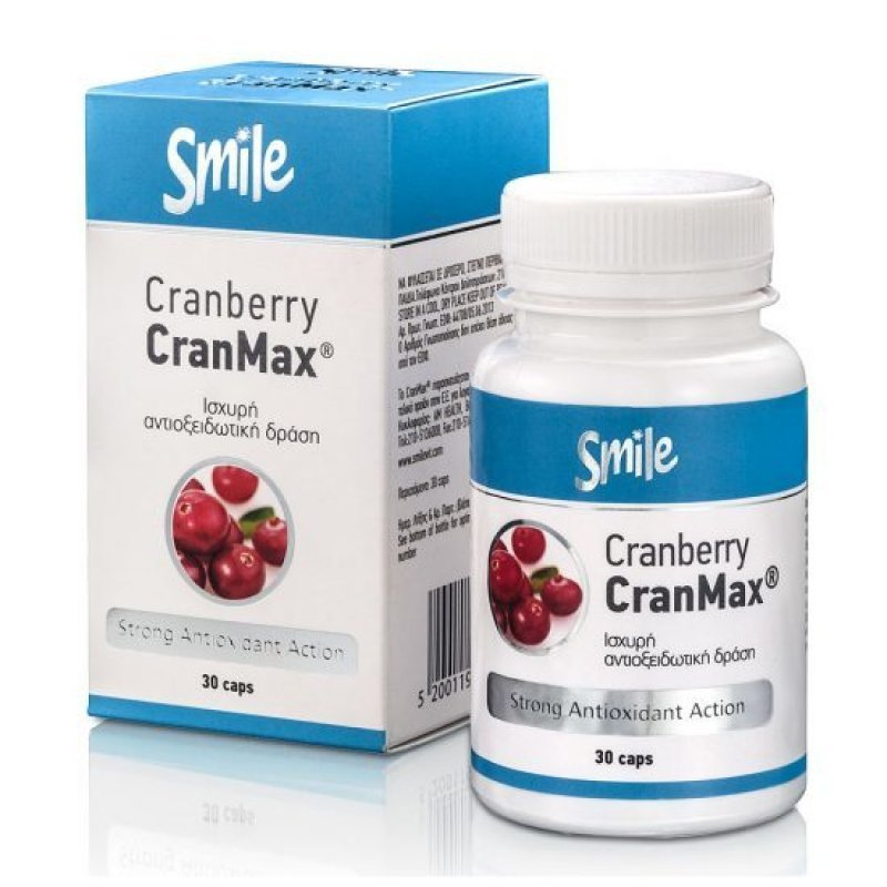 SMILE CRANBERRY CRANMAX 30 CAPS