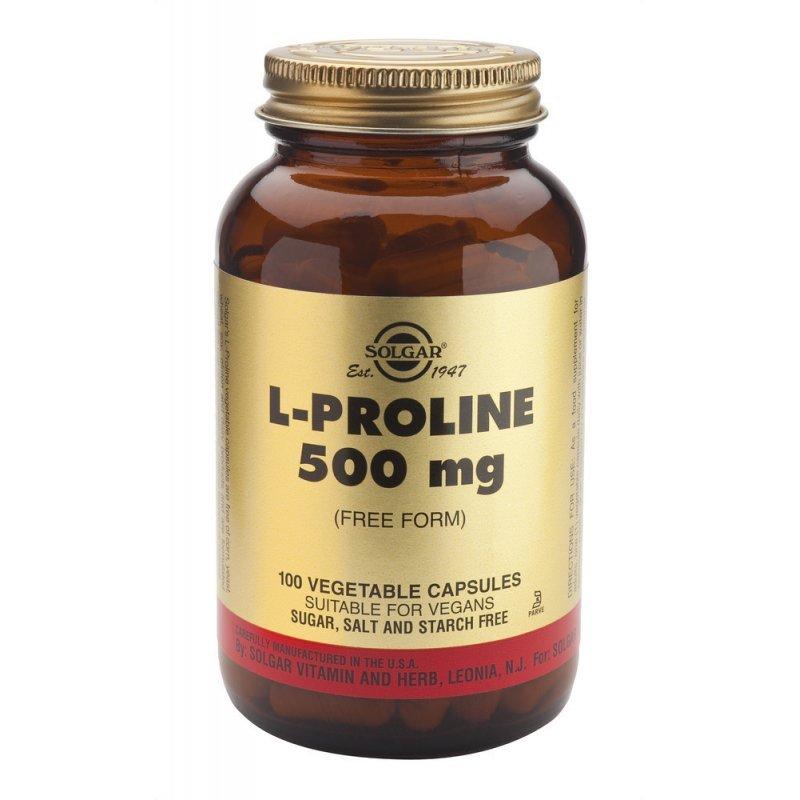 SOLGAR L-PROLINE 500MG 100VEG CAP