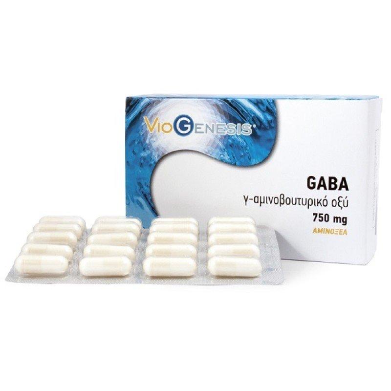 VIOGENESIS GABA 750MG 60CAPS