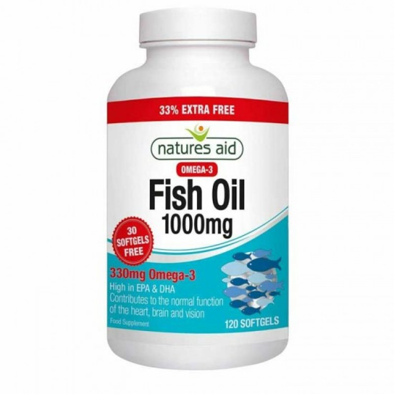 NATURES AID FISH OIL 1000MG (OMEGA-3) 120 SOFTGELS