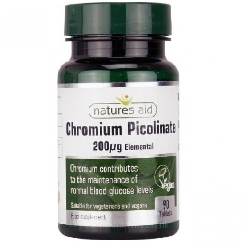 NATURES AID CHROMIUM PICOLINATE 200UG ELEMENTAL 90 TABS