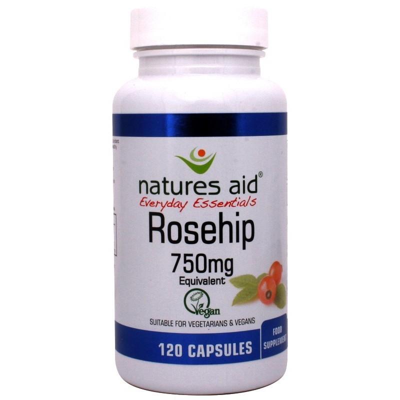 NATURES AID ROSEHIP 750mg 120 CAPS